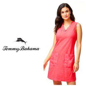 TOMMY BAHAMA Pink Cotton/Linen Shift Dress